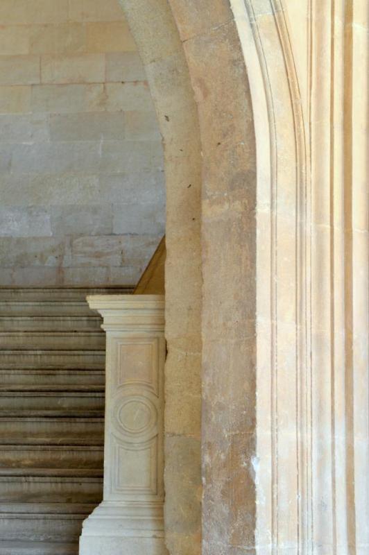 Dans la cour du palais de Charles V
