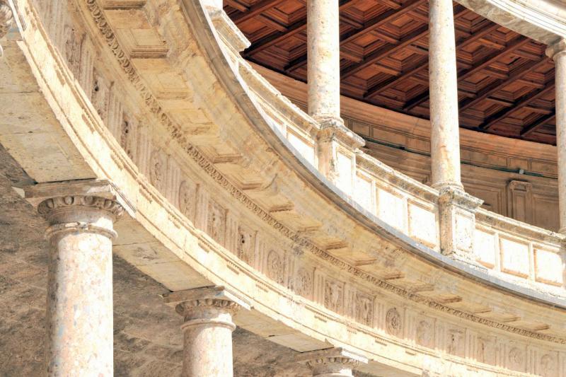 Intérieur du palais de Charles V