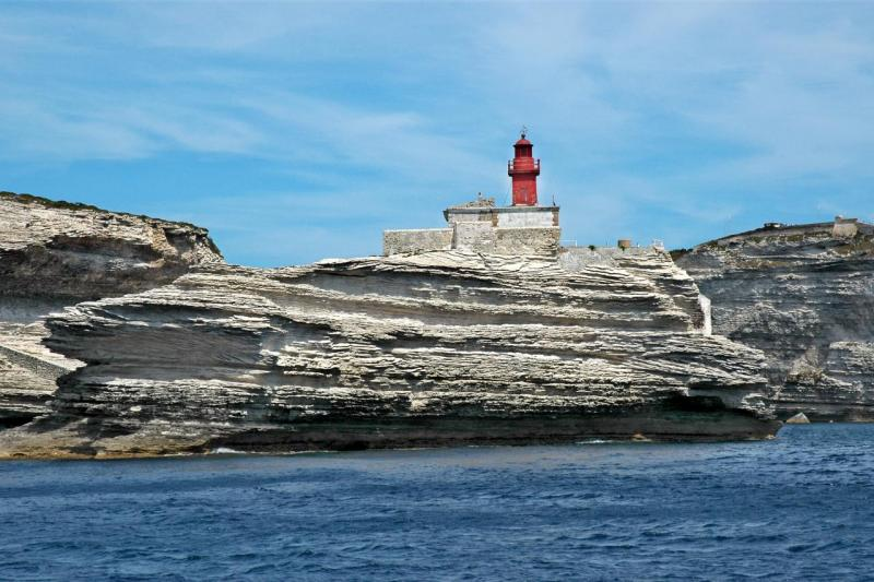 Balade en bateau au large de Bonifacio