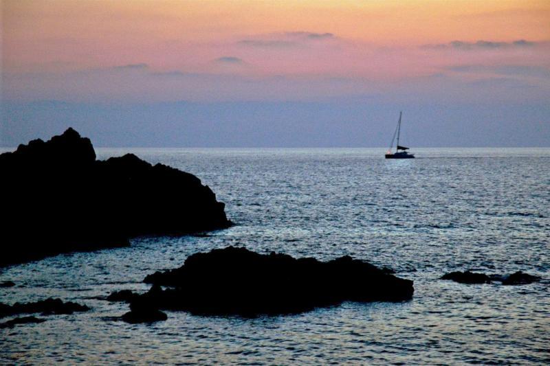 Soleil couchant sur les îles sanguinaires