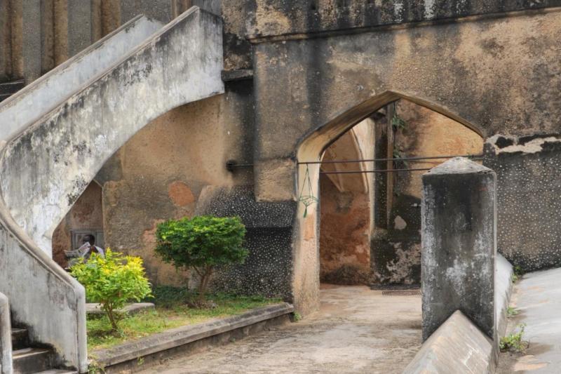 Détail de la cathédrale anglicane de Stone Town