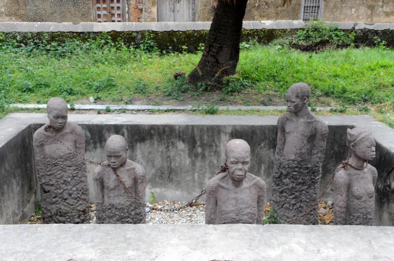 Triste mémorial de Stone Town