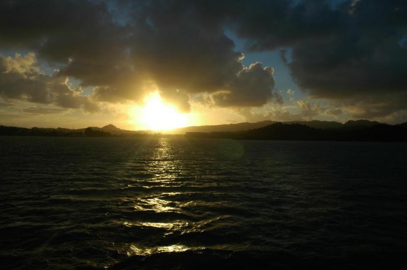 Soleil couchant sur Le François