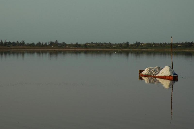 Lac Retba au couchant