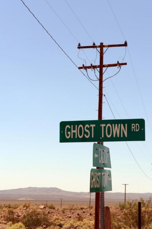 Arrivée à Calico, ville fantôme