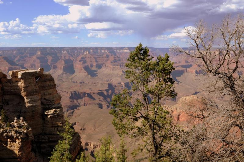 Le Grand Canyon au coucher du soleil