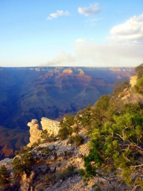 Son Grand Canyon au soleil couchant